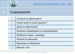 Обучение F-юноши U8-U9